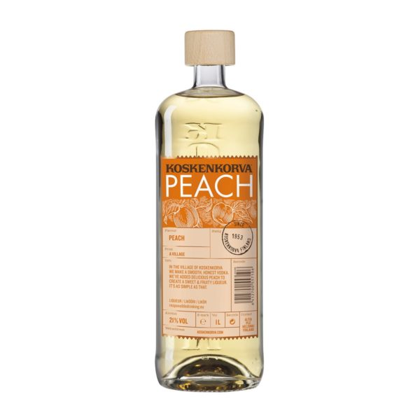 Koskenkorva vodka Peach - 21% 1 L